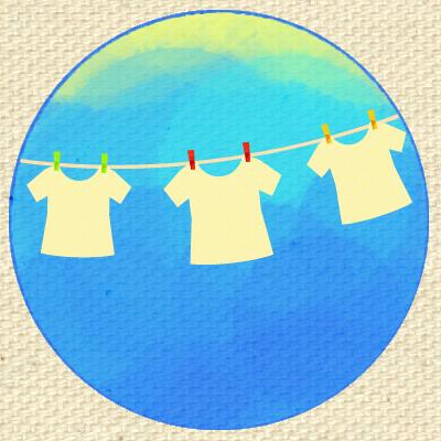 洗濯機、洗濯物